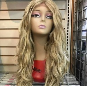 Synthetic/Human Blended Ash blonde wig